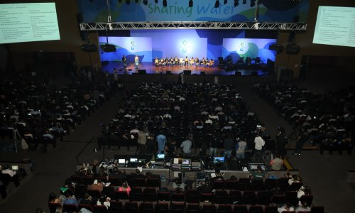 23/03/2018 - Brasília/Brasil - 8º Fórum Mundial da Água - Cerimônia de Encerramento - Centro de Convenções Ulysses Guimarães.  Foto: Jorge Cardoso/8º FMA